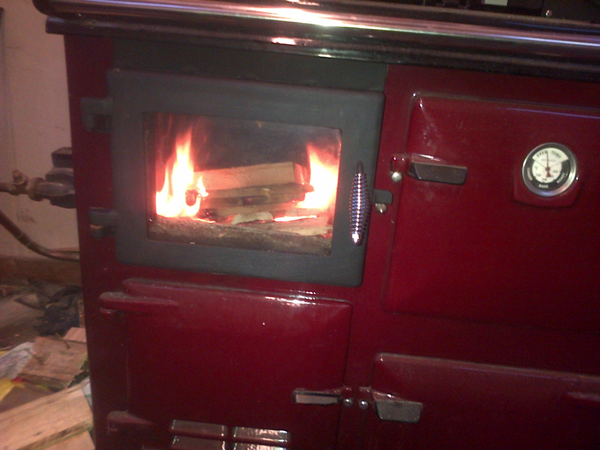 The Flameview Cooker With Glass Fire Viewing Door